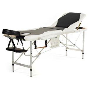 Massagebänk med metallben - 3 zoner - Tvåfärgad