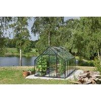 Växthus Universal - Antracit med härdat glas 9,9 m²