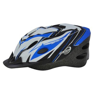 Cykelhjälm Cooper blå & vit