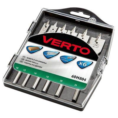 Platt träborr 10-25 mm, 6 delar - VERTO
