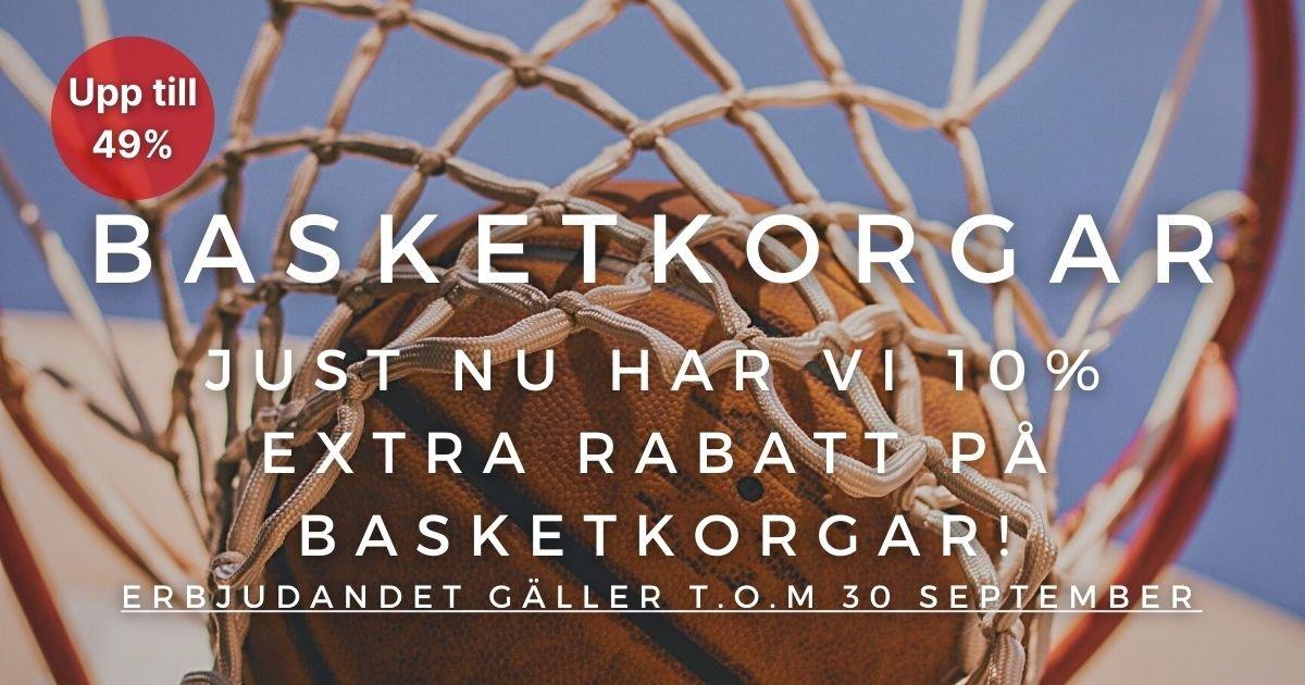 10% extra rabatt på Basketkorgar!