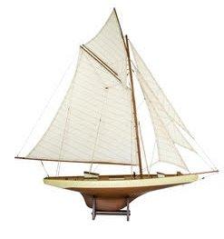 Modellbåt Columbia II segelbåt - Mahogny