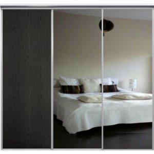 Venedig skjutdörr till garderob - 3 dörrar - Spegel/panel (flera färgval)
