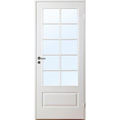 Innerdörr Gotland - Kompakt dörrblad med stort spröjsat glasparti SP10