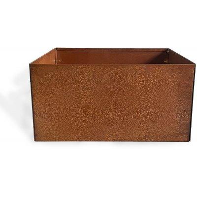 Cortenstål kruka kvadrat - 20x40x40 cm