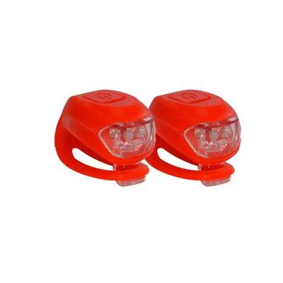 Clip On Cykellampa - röd