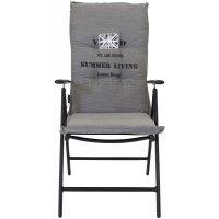 Sittdyna med rygg 5:pos – Ljusgrå
