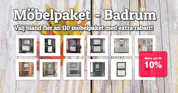 Möbelpaket - Badrumsmöbler - Extra rabatter!