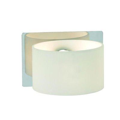 Sandfors Vägglampa - Krom/Vit