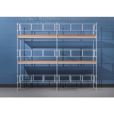 Byggnadsställning HAKI Ram 6x6 m - Aluminium