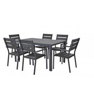 Matgrupp Graphite - 6 stolar
