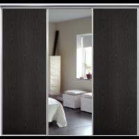 Venedig skjutdörr till garderob - 3 dörrar - Panel/spegel - Valfri färg