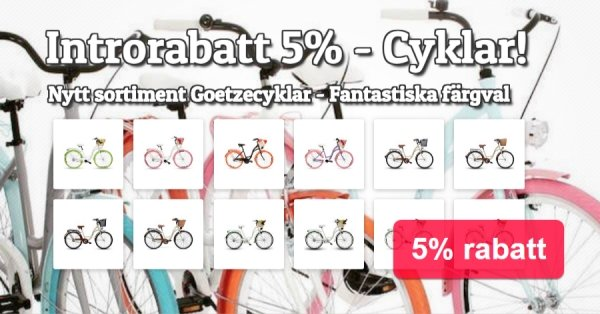 Cyklar introrabatt 5%
