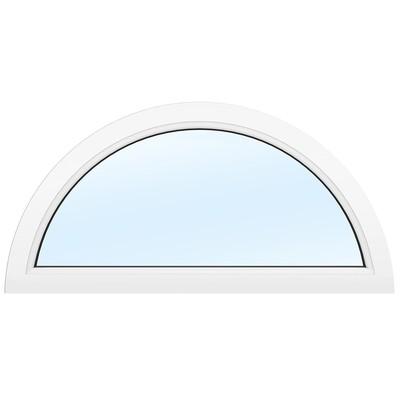 PVC-fönster | Halvmåne Fast | 3-glas