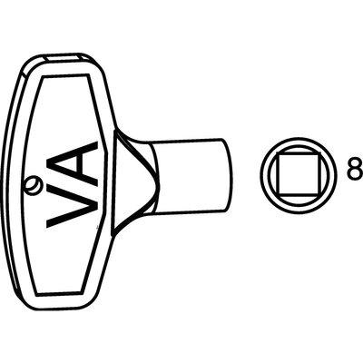 Nyckel till vattenutkastare 8 mm