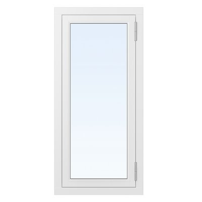 2-glasfönster Trä utåtgående - 1-Luft - Vit