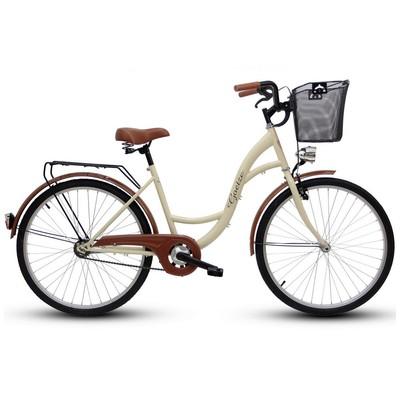 """Cykel Eco 26\\\"""" - gräddvit"""