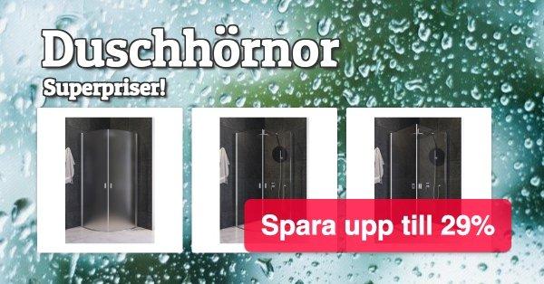 Duschdörrar i härdat glas - Toppenpriser