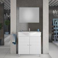 Möbelpaket Capri 80 vit med spegel