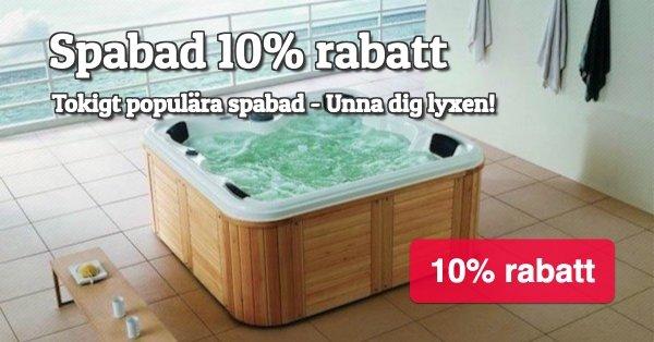 Fortsatt rabatt på våra tokigt populära spabad - 10%!