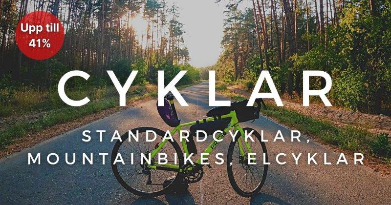 Cyklar - Upp till 41%