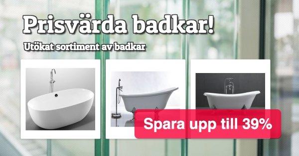 Badkar - Bra priser - Spara upp till 39%