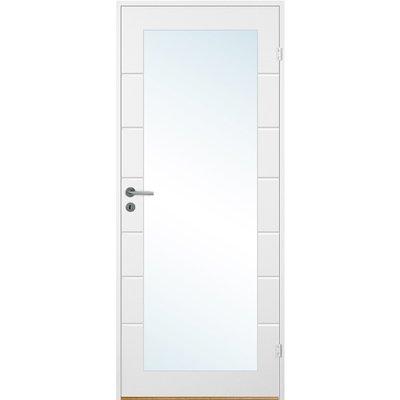 Innerdörr Bornholm - Kompakt dörrblad, spårfräst dekor & stort glasparti A13