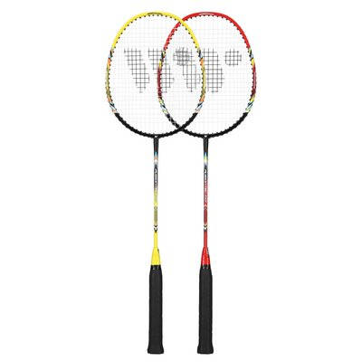 Badmintonset med 3 bollar (lime, röd & svart) FUSIONTEC 777K