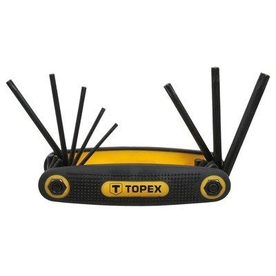 Torxnyckelsats T9-T40, 8 delar