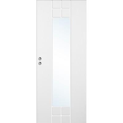 Skjutdörr Bornholm - Kompakt - Spårfräst dekor SXG11 med glas