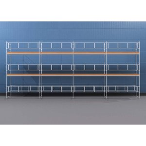 Byggnadsställning HAKI Ram 12x6 m - Aluminium