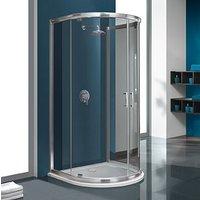 Duschhörn TX Halvrund Enkelvägg - 5mm glas (2-dörrar utåtgående)