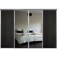 Venedig skjutdörr till garderob - 4 dörrar - Panel/spegel - Valfri färg