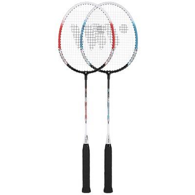 Badmintonset (röd, lime & silver) ALUMTEC 308