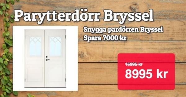 Superpris -Parytterdörr Bryssel