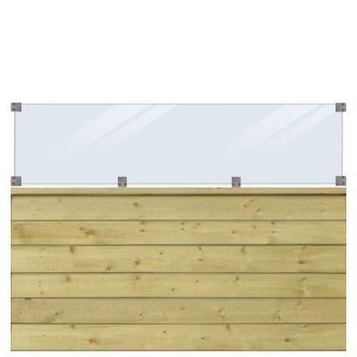 Profilstaket/glas PLUS Klink - 174x125 cm