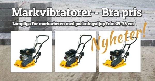 Markvibratorer - Bra priser - I lager!